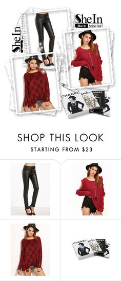 """""""Shein 8"""" by amelaa-16 ❤ liked on Polyvore featuring Chanel and shein"""