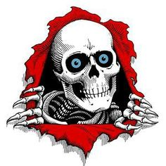 Powell Peralta and the Bones Brigade vintage skate board designs and art from the 80's
