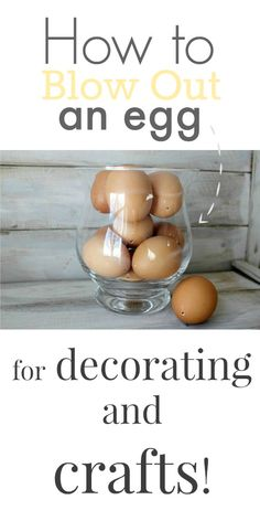 How to blow out an egg so you can use natural egg shells in your Easter decor! Must try!
