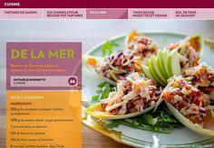 Tartares de saison - La Presse+ Carpaccio, Cabbage, Tacos, Mexican, Vegetables, Ethnic Recipes, Voici, Food, Smoked Salmon