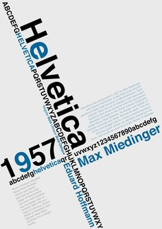 helvetica poster inspiration colors