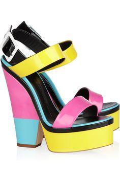 Giuseppe Zanotti  Color-block patent-leather sandals