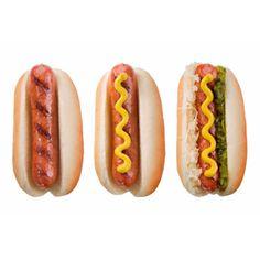 Ik heb deze foto gebruikt als voorbeeld om te kijken hoe de brood van een hot dog eruit kan zien