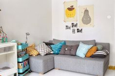colorful scandinavian style polish living room  fine little day