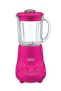 I have a blender already- but this color is so fun! It just screams make a frozen drink! Take a look at this Hot Pink SmartPower Deluxe Blender by Cuisinart on today! Purple Home, Kitchen Items, Kitchen Gadgets, Kitchen Stuff, Red Kitchen, Kitchen Appliances, Kitchen Wood, Kitchen Things, Kitchen Dining