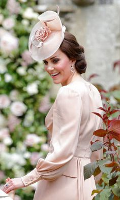 Catherine Duchess of Cambridge attends the wedding of Pippa Middleton and James Matthews at St Mark's Church on May 20 2017 in Englefield Green...