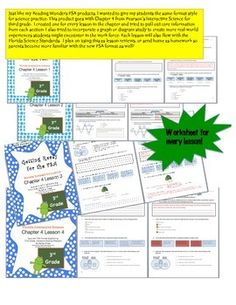 Just like my Reading Wonders FSA products, I wanted to give my students the same format style for science practice. This product goes with Chapter 4 from Pearsons Interactive Science for third grade.  I created one for every lesson in the chapter and tried to pull out core information from each section.