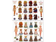 Norwegian Bunad Paper Dolls - Norwegian folk costums from the regions of Rogaland and Hardanger in Norway.