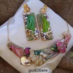 Parure shibori❤ gioielibere #madeinitaly #me #gioielibere #seta