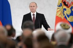 "Russian President Vladimir Putin delivering a speech on the Ukraine crisis in Moscow on March 18, 2014. (Russian government photo) Official Washington's ""group think"" on Ukraine – blaming everythin..."