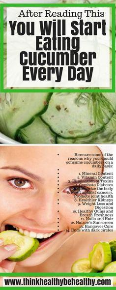 After Reading This You Will Start Eating Cucumber Every Day
