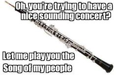 Concert coming up soon + good reed dying + no suitable replacement + solo = diaster
