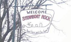 Drove thru this little quaint town in Iowa; this was the towns sign. Cute right?!