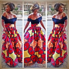 Hello ladies, When it come Ankara styles in Nigeria, it something we can not do without. Ankara styles value increase day by day. Ankara can be use to sow diff African Dresses For Women, African Print Dresses, African Attire, African Wear, African Women, African Prints, African Style, African Fashion Ankara, Ghanaian Fashion