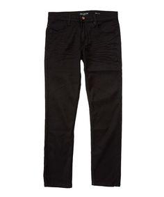 Black Slim-Fit Jeans #zulily #zulilyfinds