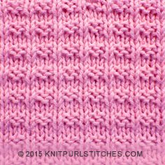 Ridge Rib stitch | knitting in the round