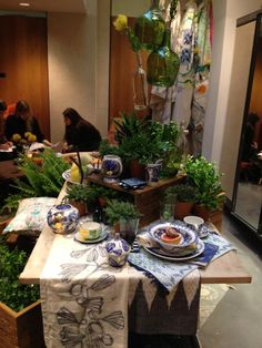 Gorgeous displays of the latest collaboration between @anthropologie and South African artist Ruan Hoffman
