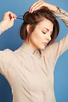 4 DIY hairstyles for cropped cuts (Photo by Lauren Perlstein)