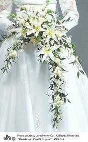 Long wedding bouquet