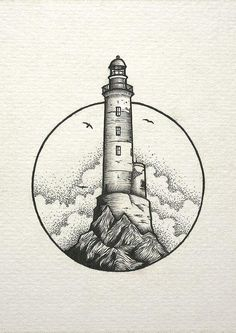 inspiration lighthouse light cloud drawing Cloud draw drawing Inspiration Light Lighthouse is part of Stippling art - Cool Art Drawings, Pencil Art Drawings, Art Drawings Sketches, Ink Illustrations, Easy Drawings, Tattoo Sketches, Tattoo Drawings, Tattoo Pics, Tattoo Illustration