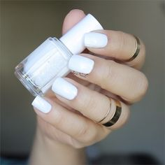 Break out your summer whites starting with an essie 'private weekend' manicure. It's fresh, it's breezy, it's summer!