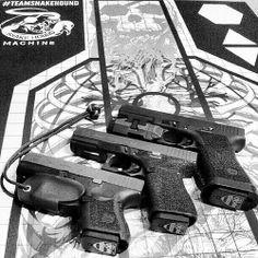 @b5demon does it again with our new 2AUSC base plates, & trigger guard, on a pile of #teamsnakehound targets! #awesome #2AUSC #snakehound #ccw #ccweapon #edc #magplates #bastion #glock #2A #USA # #inforce 2ndAmendment
