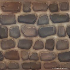 The Art of Justin Messner: Hand-painted Textures via PinCG.com