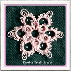 Free pattern for this double-triple picot flowerette is available on Instagram page http://instagram.com/p/ckwLPABiEx/