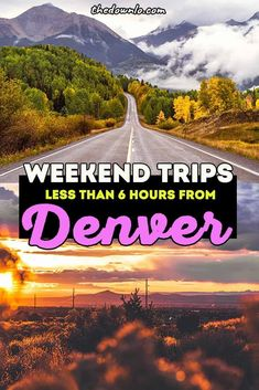 The best Denver road trips and weekend getaways from Denver, Colorado. Looking to escape the Mile High? Here are the best trips in and around Colorado, the Rocky Mountain towns like Aspen, natural beauties like the Maroon Bells, national parks like the Badlands, and neighboring states like Wyoming. All are easy roadtrips and great drives across america. #usa #co #denver #roadtrip Usa Travel Guide, Travel Usa, Travel Advice, Travel Tips, Canada Travel, Travel Guides, Weekend Trips, Weekend Getaways, Weekend Breaks