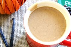 DIY www.agutsygirl.com Pumpkin Spiced Latte Close #PSL #glutenfree #dairyfree #chemicalfree