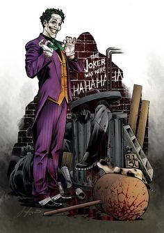 DC Comic Book Artwork • The Joker. Follow us for more awesome comic art, or check out our online store www.7ate9comics.com
