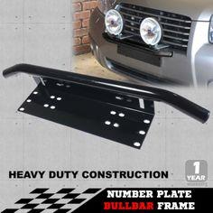 Number-Plate-Bullbar-Frame-Mounting-Bracket-Mount-Light-Bar-Antenne-UHF-Holder