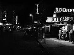 Photo: Jazz Club Three Deuces in the Street in New York : Ebony Magazine Cover, Hard Bop, Jazz Club, New York Photos, New York Street, Famous Artists, Find Art, Fine Art Prints, Concert