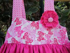 Bright Pink Butterfly Knot DressSize 3/4matching by gumdroptree, $30.00