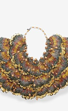 Erickson Beamon Orange, Brown And Multicolor Necklace