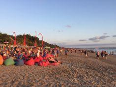 People watching at La Plancha, Seminyak beach, Bali-Indonesia
