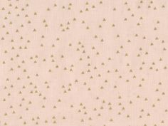 Tissu rose pâle imprimé triangles dorés