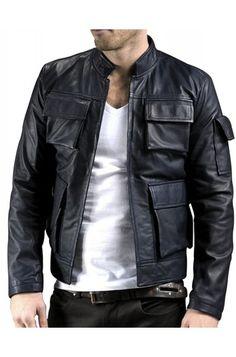 The Empire Strikes Leather Jacket - Han Solo Back Jacket - Movies Jacket Star Wars Shop, The Empire Strikes Back, Harrison Ford, Disneyland Paris, Leather Jacket, Men's Leather, New Movies, Movie Stars, Jackets