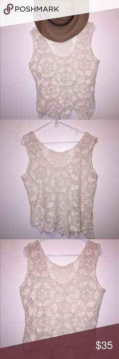 Crochet top Beautiful crochet top. Purchased while on vacation. Never worn! (No tags. Hand made) Tops