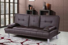 #Sofa #Bed #Faux #Leather #Modern  #Seater #Cinema #Cushion #Living Room