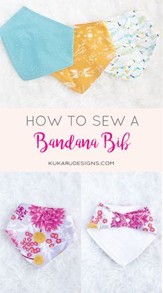Bandana bib pattern available in the shop! These beautiful dribble bibs are great for any modern baby!How to Sew a Bandana Bib Baby Sewing Projects, Sewing Projects For Beginners, Sewing Hacks, Sewing Tutorials, Sewing Crafts, Sewing Tips, Sewing Ideas, Sewing Patterns Free, Free Sewing