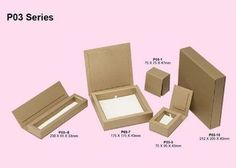 China Folding Kraft Paper Jewelry Box, Jewelry Cardboard Boxes For Pandent / Necklace / Bracelet  Packaging supplier $0.45 each