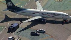 Avión de Aeromexico choca con camión en aeropuerto Los Ángeles