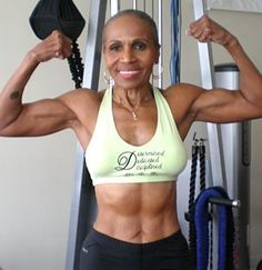 """Ernestine Shepherd   74 Years Young  -source    This is the ultimate inspiration. This is what I'm working towards til the day I'm 74 and beyond :)"" Inspiration to get Fit & Stay Fit ;-)"