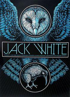 Jack White tour/show poster Concert Posters, Illustrations Posters, Gig Posters, Rock Posters, Poster Art, Festival Posters, Music Artwork, Jack White, Prints