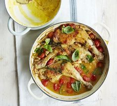 Summer braised chicken with tomatoes