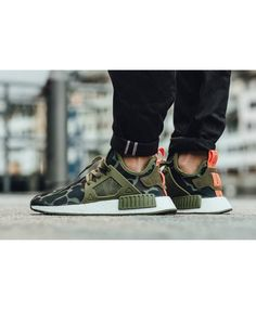 a0444ca30c24c Chaussure Adidas NMD XR1 Duck Camo Pack Olive Cargo Ba7232