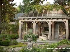 Inspiring Park Garden Gazebo for Your Home. Park Garden gazebo is a courtyard decoration or home yard which is often a favorite choice to complete the house garden. Backyard Garden Landscape, Backyard Gazebo, Outdoor Pergola, Outdoor Rooms, Backyard Landscaping, Outdoor Living, Backyard Ideas, Outdoor Furniture, Terrace Garden