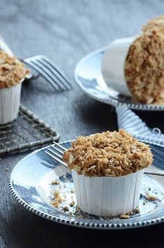 Biscoff Muffins with Coffee Cake Crumble Topping