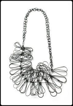 fringe necklace by Megan Auman